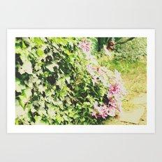 Bush of Flowers Art Print