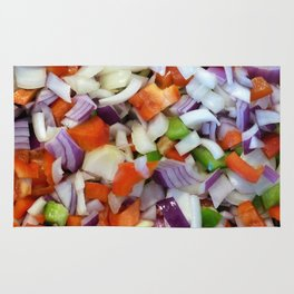Onions and Bell Peppers Rug