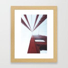 Golden Gate Bridge fogged up - San Francisco, CA Framed Art Print