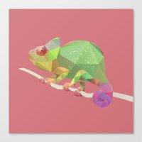 chameleon Canvas Prints featuring Chameleon. by Diana D'Achille