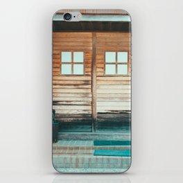 """""""Tadaima"""" Blue Entrance iPhone Skin"""
