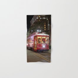 New Orleans Canal Street Car at Night Hand & Bath Towel