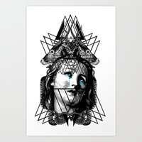pain Art Prints featuring PAIN by DIVIDUS