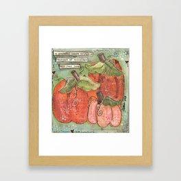 thankful pumpkins Framed Art Print
