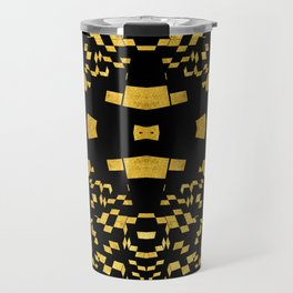 Rubik series 3, gold and balck Travel Mug