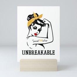 Social Worker Unbreakable t-shirt Mini Art Print