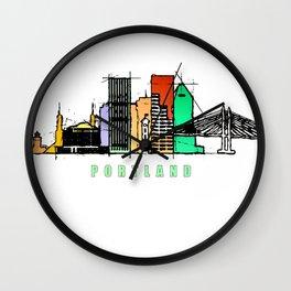 Portland city, Oregon Wall Clock