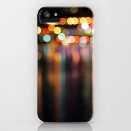 Bokeh City Night Lights iPhone Case