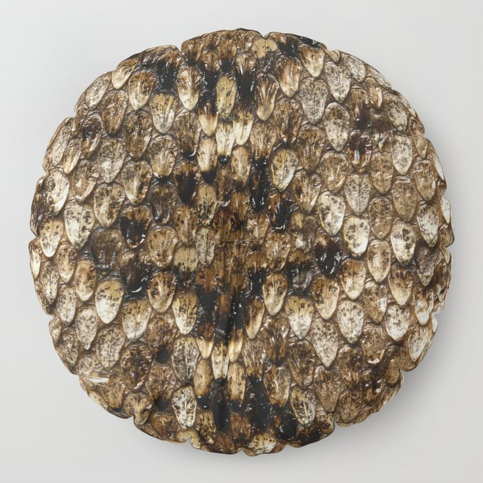 Faux Rattlesnake Skin Design Floor Pillow