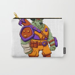 Bull warrior cartoon illustration Carry-All Pouch