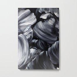 Black tulip detailing  Metal Print