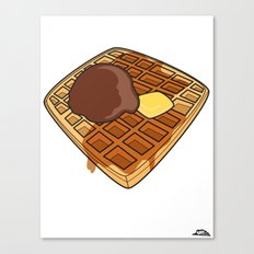 Waffle Time is Anytime. Canvas Print
