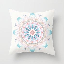 Pastel Goodness Soft Mandala Throw Pillow