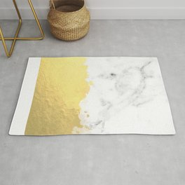 Gold spill on marble Rug