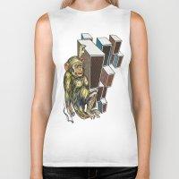ape Biker Tanks featuring Ape by VikaValter