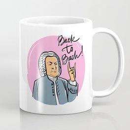 Back to Bach (pink background) Coffee Mug