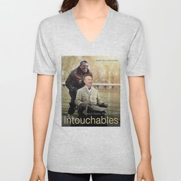 """Putin And Obama in """"Les Intouchables"""" Unisex V-Neck"""