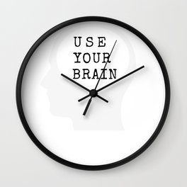 Use your brain Wall Clock