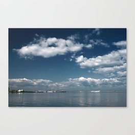 Beautiful blue sky over the Gulf of Finland Canvas Print