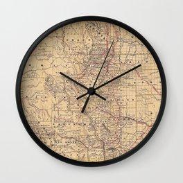 Colorado Vintage Map Wall Clock