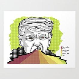 Donald Trump's Lies Art Print