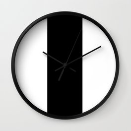 TEAM COLORS 7...Black and white Wall Clock