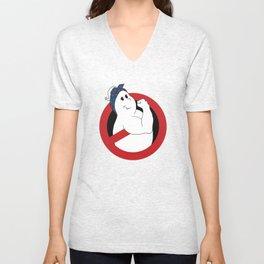 Girl Ghostbuster Logo Unisex V-Neck