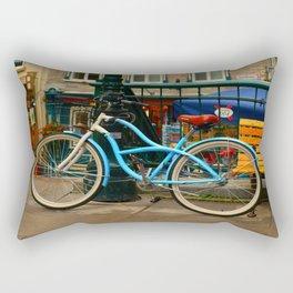 I love my blue bike Rectangular Pillow
