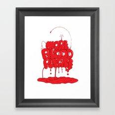 More Blood Please Framed Art Print
