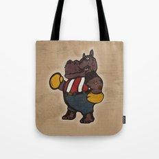 Hippo Pugilist Tote Bag