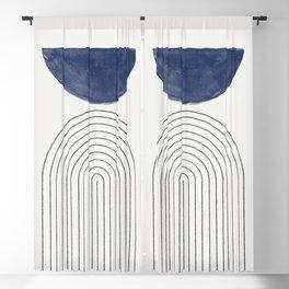 Blue Half Moon Arch Blackout Curtain
