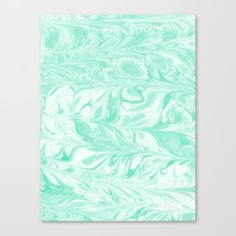 Umeko - spilled ink marble paper marbling art  painting abstract swirl water ocean landscape map Canvas Print