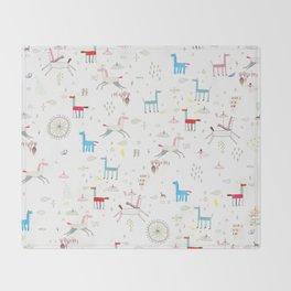 Merry-go-round Throw Blanket