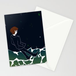falling into to waves Stationery Cards