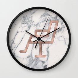 Rose Gold Salon Chair on Marble Background - Salon Decor Wall Clock