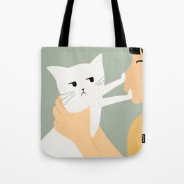 Enough is enough! She plays with my feelings again! Tote Bag