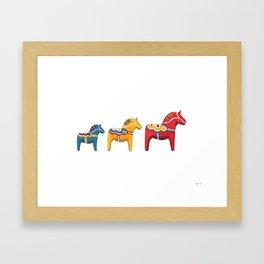 Dala horses Framed Art Print