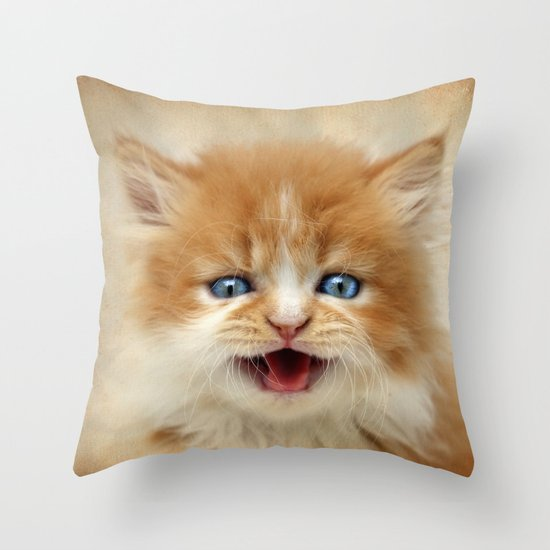 Where's My Dinner? Throw Pillow
