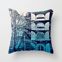 Amsterdam Home - Blue Throw Pillow