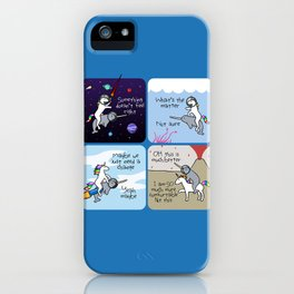 Not Quite Right (Horned Warrior Friends) iPhone Case