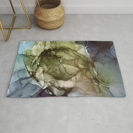 Calm Nature- Earth Inspired Abstract Painting Rug