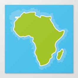 map of Africa Continent and blue Ocean. Vector illustration Canvas Print