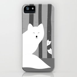 White foxes iPhone Case