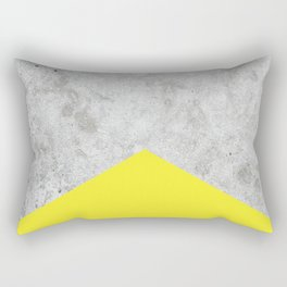 Concrete Arrow Yellow #193 Rectangular Pillow