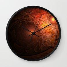 Fire Owl [Owl Gang] Wall Clock