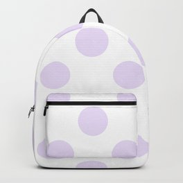 Geometric Orbital Circles In Pale Delicate Summer Fresh Lilac Dots on White Backpack