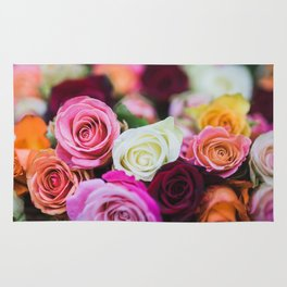 Colorful Roses Rug