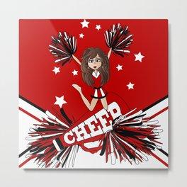 Cheer Cheer Cheerleader Metal Print
