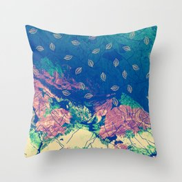 Abstract nature in the mountains Throw Pillow