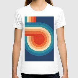 RETRO VIBES - 70's colorful stripes T-shirt